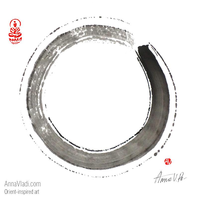 Annavladi Com Enso Zen Circle Print On Demand Prints Posters Postcards Etc Orient Inspired Art